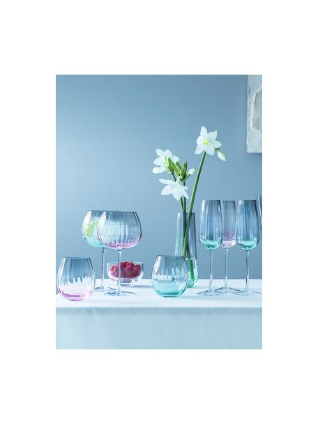 Handgemachte Wassergläser Dusk mit Farbverlauf, 2 Stück, Glas, Grün, Grau, Ø 9 x H 10 cm