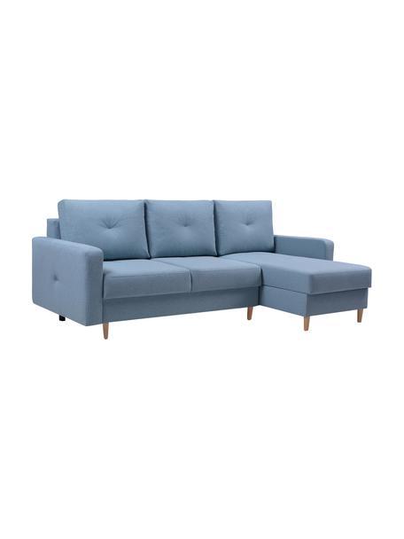 Sofa narożna z funkcją spania i schowkiem Vinci (4-osobowa), Tapicerka: 100% poliester, Niebieski, S 231 x G 146 cm