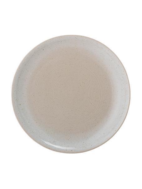 Frühstücksteller Taupe mit handgefertigter Sprenkelglasur, 2 Stück, Steingut, Grau, Beige, Ø 22 cm
