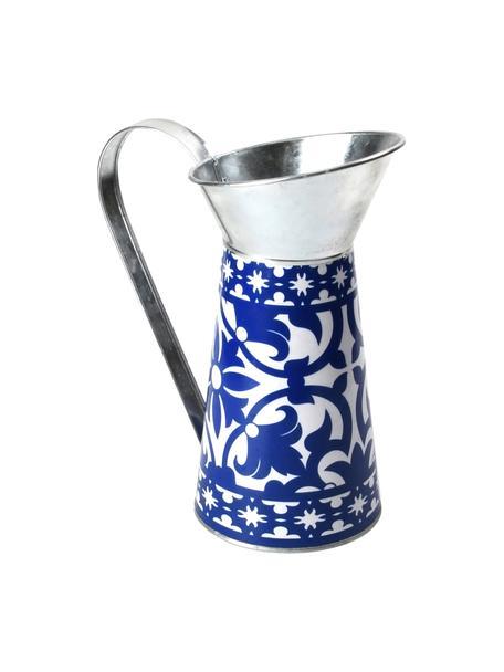 Dzbanek dekoracyjny Portugal, Metal powlekany, Niebieski, S 21 x W 25 cm