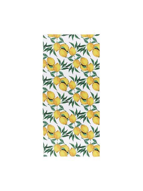 Ręcznik plażowy Lemon, 55% poliester, 45% bawełna Bardzo niska gramatura, 340 g/m², Biały, zielony, żółty, S 70 x D 150 cm