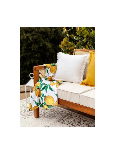 Licht strandlaken Lemon, 55% polyester, 45% katoen zeer lichte kwaliteit, 340 g/m², Wit, groen, geel, 70 x 150 cm