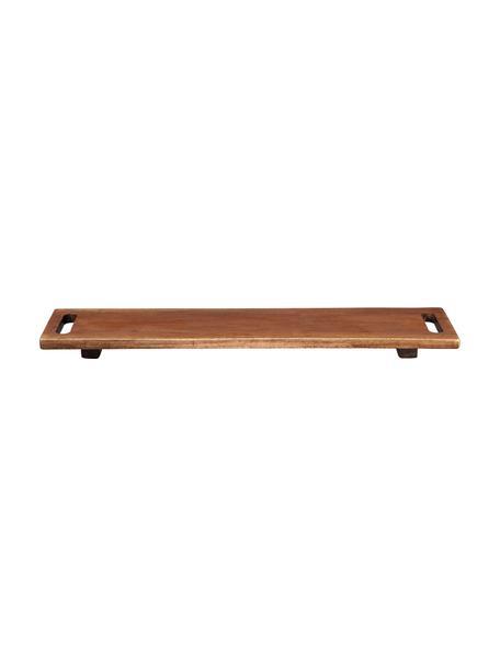 Houten dienblad Wood, L 60 x B 13 cm, Hout, Bruin, 13 x 60 cm