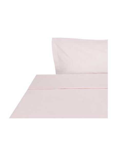 Sábana encimera Plain Dye, Algodón El algodón da una sensación agradable y suave en la piel, absorbe bien la humedad y es adecuado para personas alérgicas, Rosa, Cama 90 cm (155 x 280 cm)