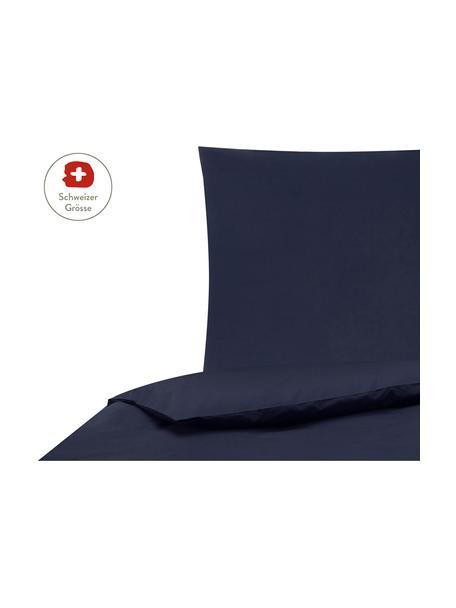 Baumwollperkal-Bettdeckenbezug Elsie in Dunkelblau, Webart: Perkal Fadendichte 200 TC, Dunkelblau, 160 x 210 cm