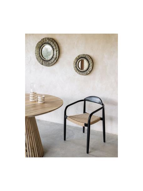 Okrągłe lustro ścienne Akila, Brązowy, czarny, Ø 40 x G 5 cm