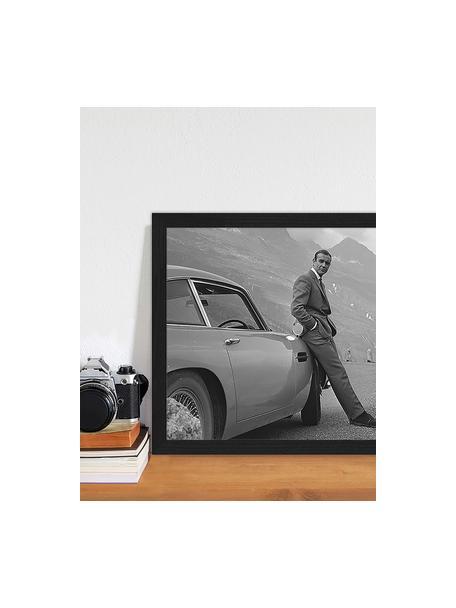 Oprawiony druk cyfrowy Sean Connery (James Bond), Czarny, biały, S 43 x W 33 cm