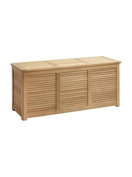 Baúl de jadín de madera Storage, Madera de teca lijada, Teca, An 130 x Al 60 cm