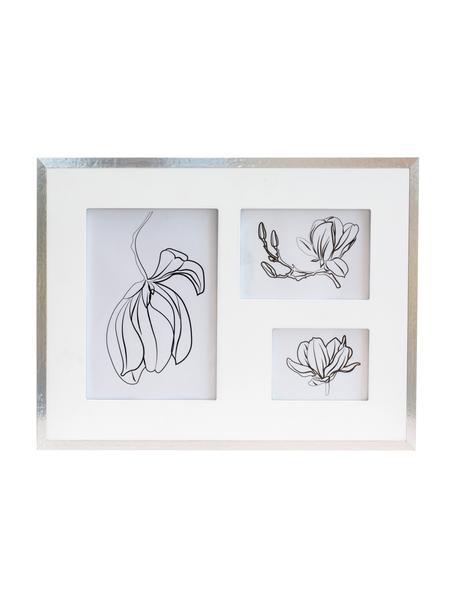 Cornice foto multiple Austin Flowers, Cornice: pannello di fibra a media, Argentato, Set in varie misure