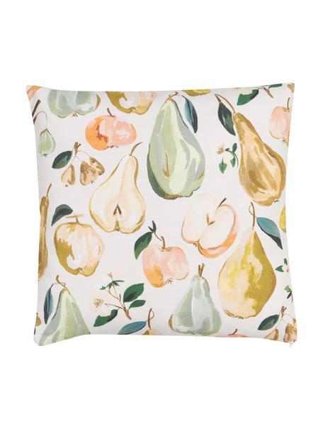 Funda de cojín Fruits, diseño Candice Grey, 100%algodón, certificado GOTS, Multicolor, An 45 x L 45 cm