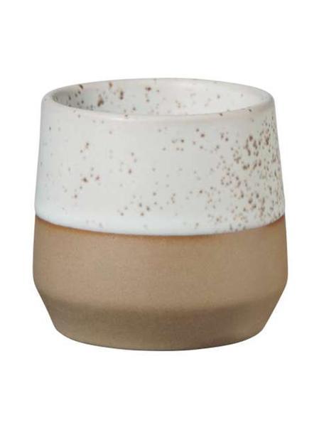 Eierdopjes Caja in mat bruin/beige, 2 stuks, Keramiek, Bruin- en beigetinten, Ø 5 x H 5 cm