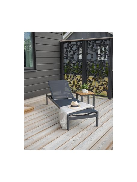 Leżak ogrodowy z aluminium Copacabana, Stelaż: aluminium lakierowane, Czarny, D 195 x S 60 cm