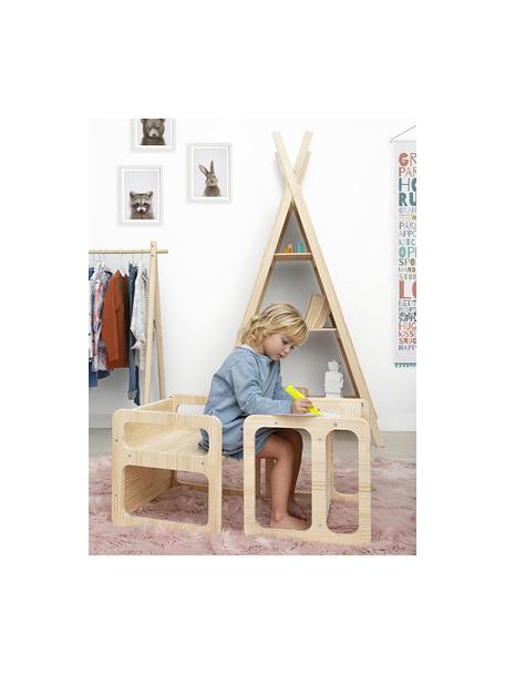 Mueble infantil Montessori, Madera de pino, Beige, An 40 x Al 40 cm
