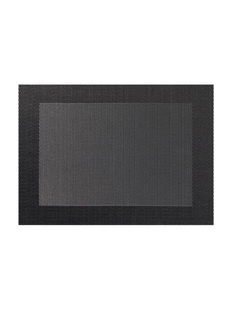 Kunststoffen placemats Trefl, 2 stuks, Kunststof (PVC), Donkergrijs, antraciet, 33 x 46 cm