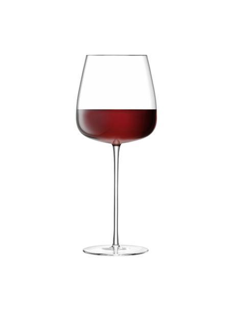 Copas de vino tinto de vidrio soplado artesanalmente Wine Culture, 2uds., Vidrio, Transparente, Ø 11 x Al 26 cm