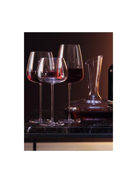 Filigrane mundgeblasene Rotweingläser Wine Culture, 2 Stück, Glas, Transparent, Ø 11 x H 26 cm