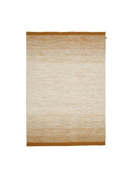Ręcznie tkany dywan z wełny z gradientem Lule, 70% wełna, 30% bawełna, Brunatnożółty, beżowy, S 140 x D 200 cm (Rozmiar S)