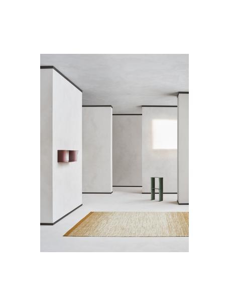 Ręcznie tkany dywan z wełny z gradientem Lule, 70% wełna, 30% bawełna Włókna dywanów wełnianych mogą nieznacznie rozluźniać się w pierwszych tygodniach użytkowania, co ustępuje po pewnym czasie, Brunatnożółty, beżowy, S 140 x D 200 cm (Rozmiar S)