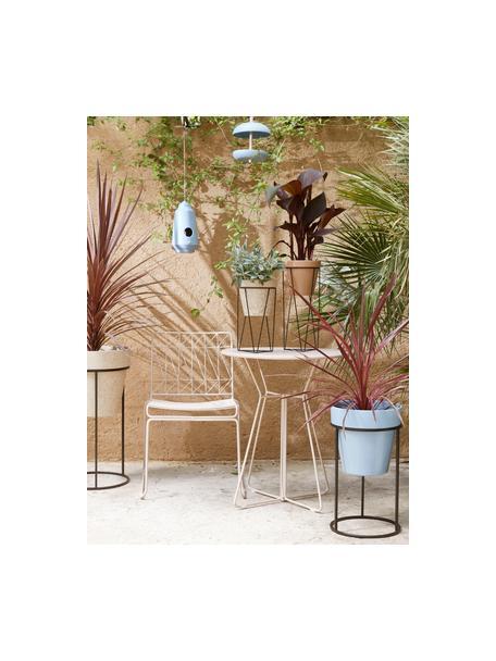 Stolik balkonowy Bueno, Metal powlekany, Blady różowy, Ø 60 x W 70 cm