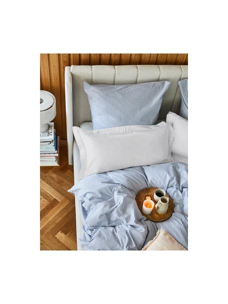 Poszewka na poduszkę z organicznej satyny bawełnianej Premium, 2 szt., Jasny szary, S 40 x D 80 cm