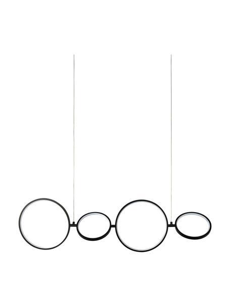 Grosse Dimmbare LED-Pendelleuchte Cirque, Lampenschirm: Aluminium, beschichtet, Baldachin: Metall, beschichtet, Schwarz, 109 x 30 cm