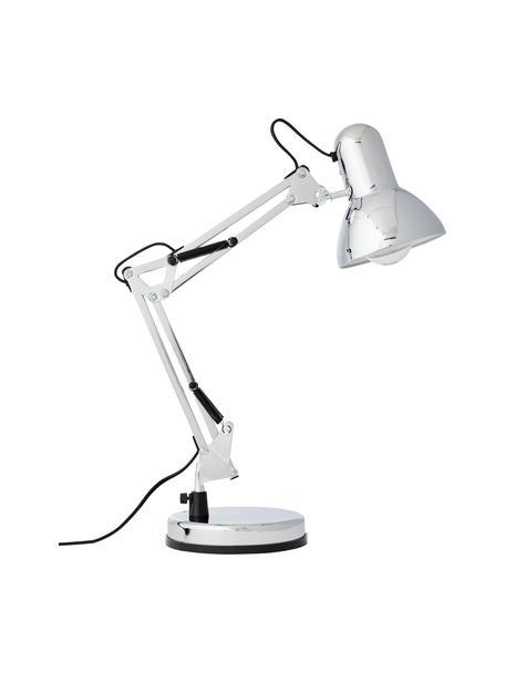 Lampada da scrivania retrò in cromo Henry, Paralume: metallo, Base della lampada: metallo, Cromo, Larg. 16 x Alt. 50 cm