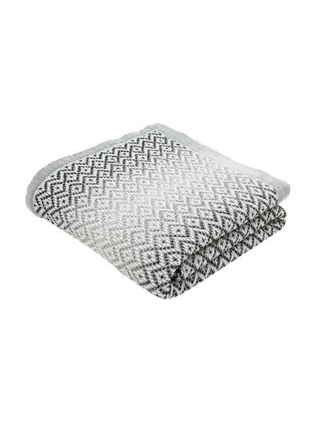 Katoenen bedsprei Dia met grafisch patroon, 100% katoen, Zwart, wit, B 230 x L 235 cm (voor bedden van 160 x 200)