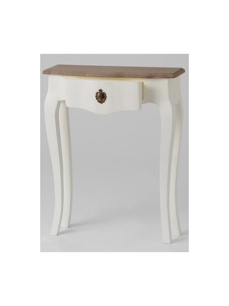 Consola Celestine, Blanco, marrón, An 60 x F 20 cm