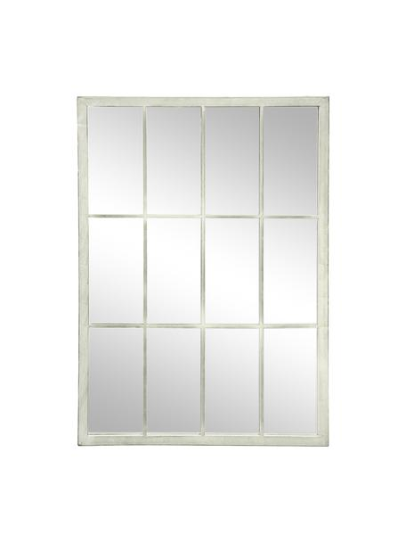 Rechthoekige wandspiegel Zanetti met witte metalen frame, Lijst: gelakt metaal, Wit, 50 x 70 cm
