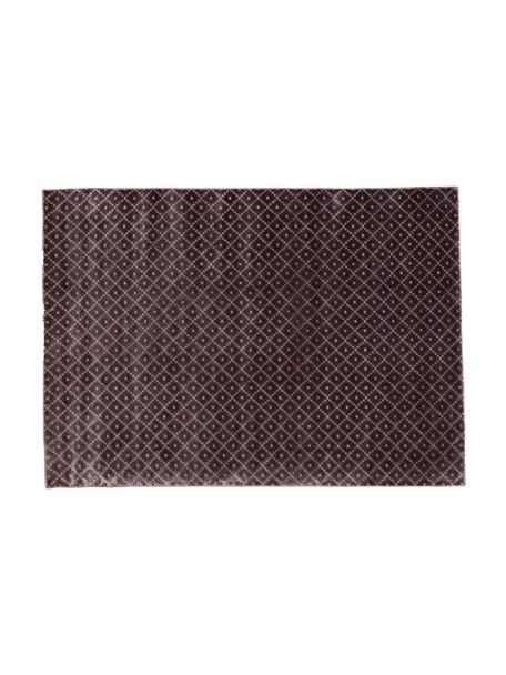 Tappeto in viscosa tessuto a mano Livia, Vello: viscosa, Retro: cotone, Viola, P 140 x L 200 cm