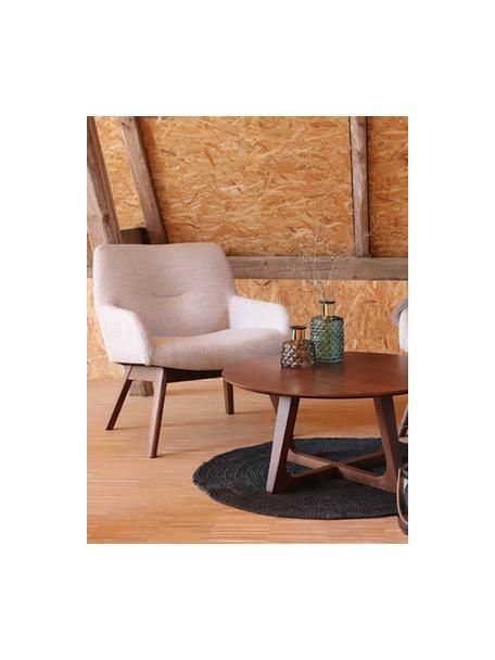 Fotel wypoczynkowy London, Tapicerka: 100% poliester, Nogi: drewno orzecha włoskiego, Beżowy, S 63 x G 65 cm