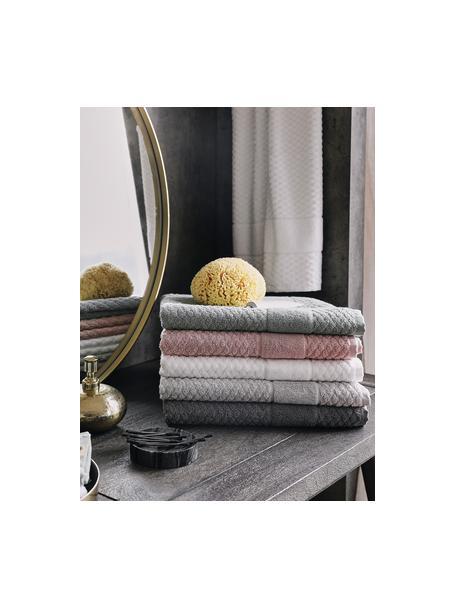 Handtuch Katharina in verschiedenen Größen, mit Wabenmuster, Silbergrau, Handtuch