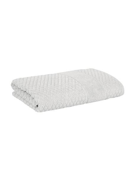 Handdoek Katharina in verschillende formaten, met honingraatpatroon, Zilvergrijs, Handdoek