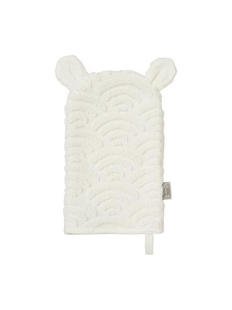 Myjka z bawełny organicznej Wave, 100% bawełna organiczna, Złamana biel, S 15 x D 22 cm