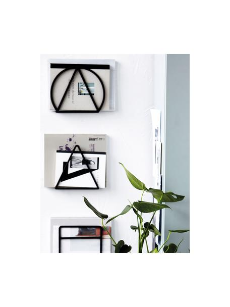 Set 3 portariviste da muro Loge, Metallo verniciato, Nero, Larg. 25 x Alt. 20 cm
