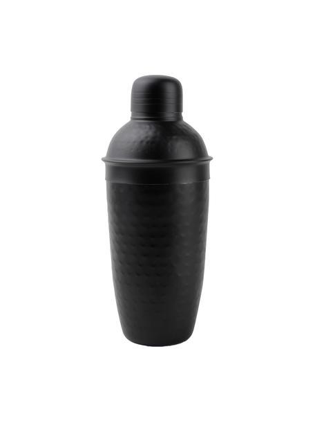 Cocktailshaker Onur in zwart met een gehamerd oppervlak, Gecoat en gehamerd edelstaal, Zwart, Ø 9 x H 22 cm