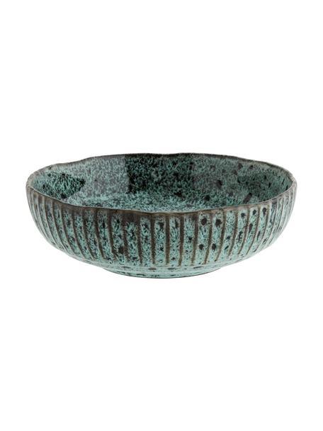 Cuenco de gres Vingo, Gres, Verde azulado, negro, Ø 26 x Al 8 cm