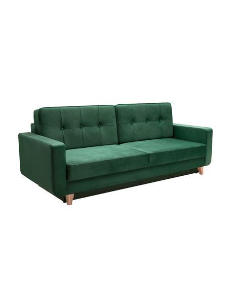 Sofa z funkcją spania i schowkiem Tokio (2-osobowa), Tapicerka: 100% poliester, Szary, S 228 x G 89 cm