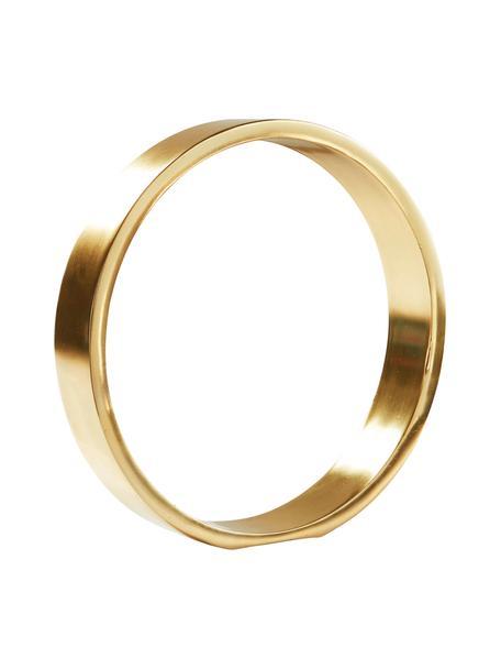 Dekoracja Ring, Metal powlekany, Odcienie złotego, Ø 25 x W 25 cm