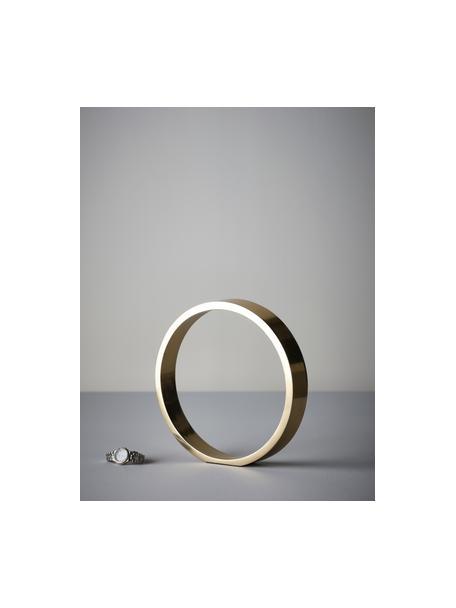 Pieza decorativa Ring, Metal recubierto, Dorado, Ø 25 x Al 25 cm