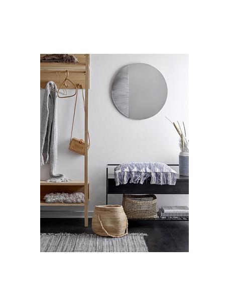 Banco zapatero Abelone, con espacio de almacenamiento, Asiento: madera de mango recubiert, Estructura: metal recubierto, Negro, An 102 x F 40 cm