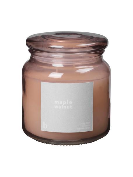 Geurkaars Maple Walnut (walnoot), Houder: glas, Oudroze, Ø 10 cm