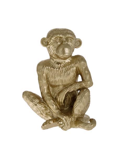 Oggetto decorativo Monkey, Poliresina, Dorato, Larg. 12 x Alt. 15 cm