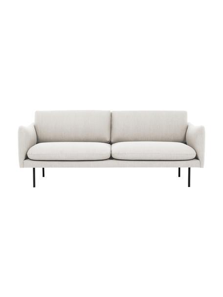 Sofa Moby (2-Sitzer) in Beige mit Metall-Füssen, Bezug: Polyester Der hochwertige, Gestell: Massives Kiefernholz, Webstoff Beige, B 170 x T 95 cm