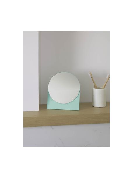 Specchio cosmetico Mica, Superficie dello specchio: lastra di vetro, Verde, Larg. 17 x Alt. 20 cm