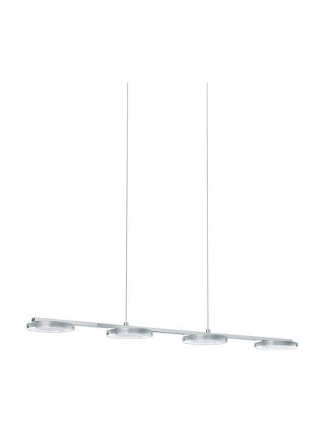 Lampada moderna a sospensione a LED Cartama, Paralume: metallo cromato, Lampada: metallo cromato, Baldacchino: metallo cromato, Cromato, Larg. 78 x Alt. 110 cm