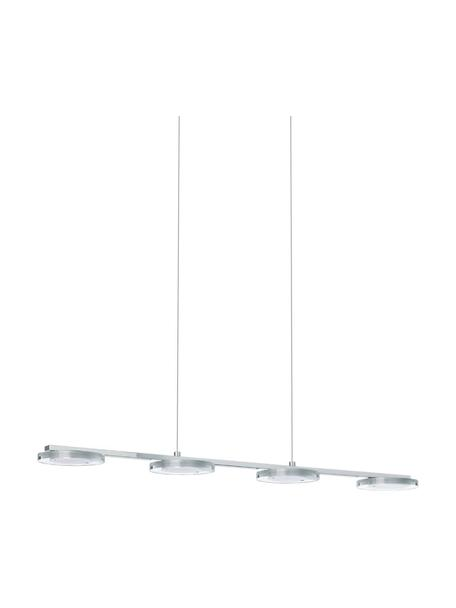 Moderne LED hanglamp Cartama, Baldakijn: verchroomd metaal, Chroomkleurig, 78 x 110 cm