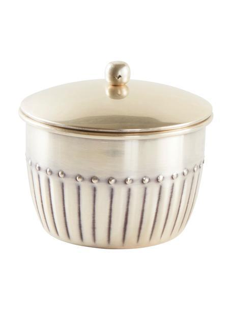 Pojemnik do przechowywania Alida, Metal, Srebrny antyczny, Ø 10 x W 11 cm