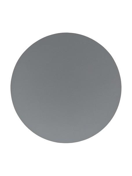 Ronde placemats Asia, 2 stuks, Kunstleer (PVC), Antraciet, Ø 38 cm