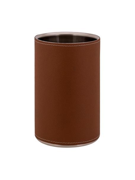 Cooler Lahore, Tapicerka: skóra, Brązowy, stal, Ø 12 x W 20 cm